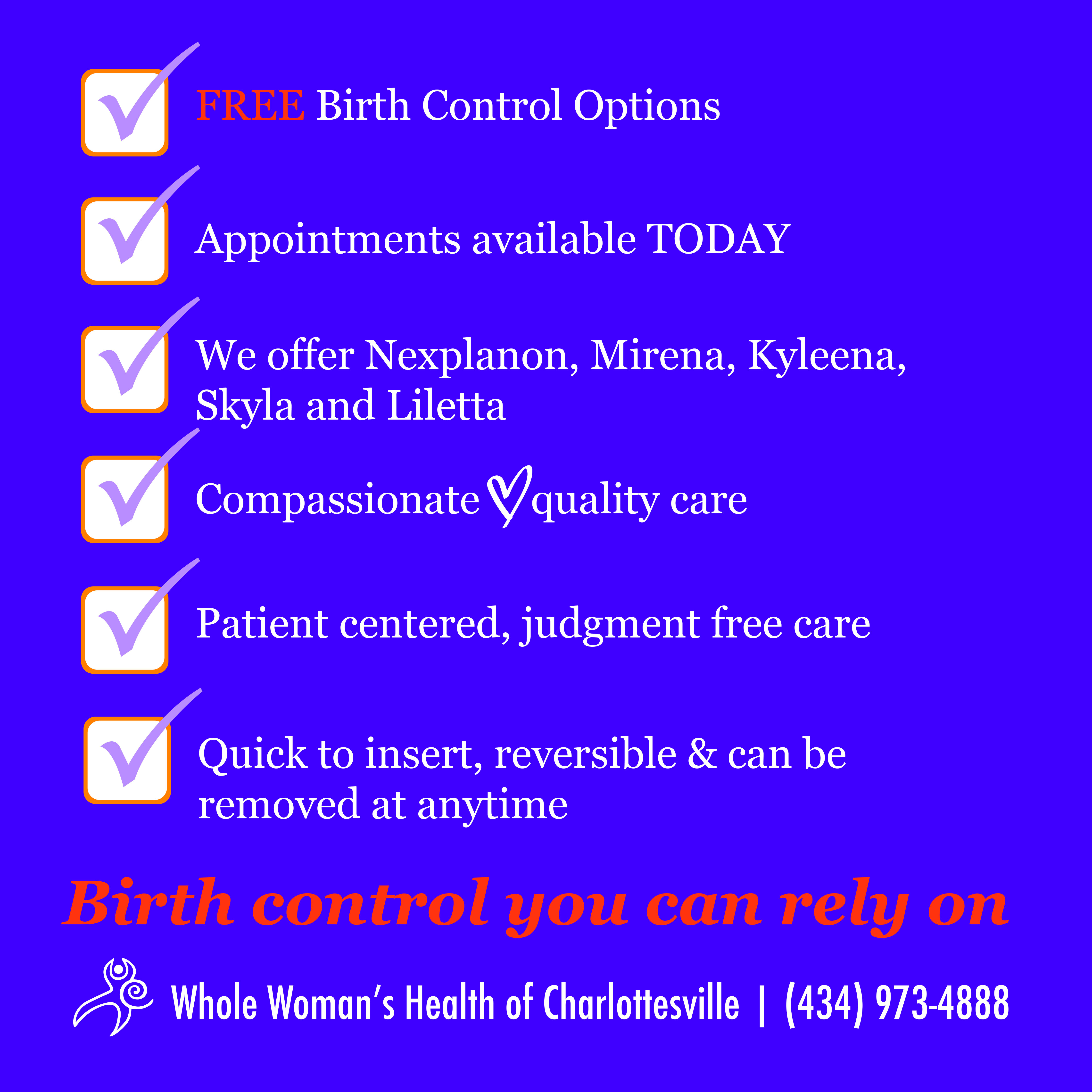 Free Long-Acting Birth Control 1
